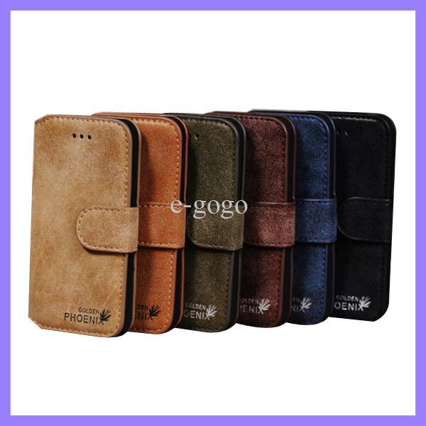 "Luxury Golden Phoenix Genuine Original Leather Case For Apple iphone 4 4s 5 5G 5S 6 4.7"" Cover Wallet Case Retail Box"