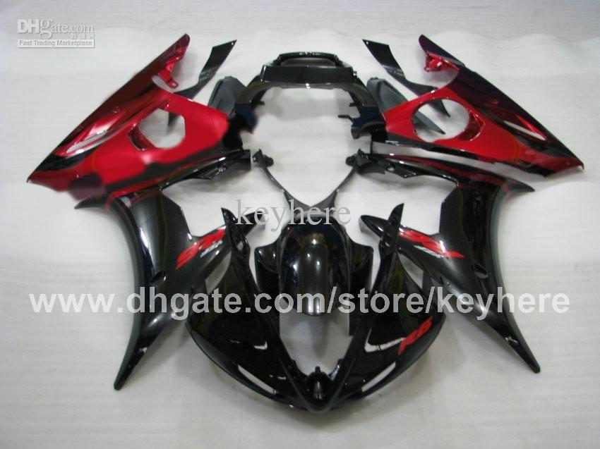 Kit de carénage de course sur mesure pour YZF-R6 03 04 YZFR6 2003 2004 YZF R6 2003 04 carénages G7c pièces de moto populaires rouge noir pièces de rechange carrosserie