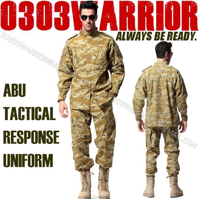 a502af88ab0 2019 ABU Tiger Stripe Camouflage Suit Sets Airman Battle Uniform Military  Combat Airsoft Uniform Sets Jacket + PantsU 11 From Frielionsports
