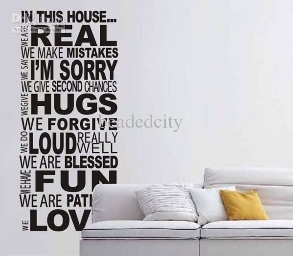 Funlife Xcm We Do Real House Rules Version  Wall Quote - House rules wall decals