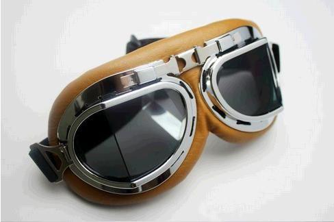 Nuovo Aviator Pilot Cruiser Moto Motorcycle Motory ATV Goggle Occhiali T08Y Lente trasparente Brown Lens Giallo Lente gialla Lente colorata Lente colorata