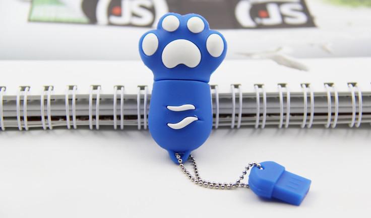 Grappige voeten USB Flash Memory Stick Pen Drive U Disk Real 2 GB 4GB 8GB 16 GB + Box