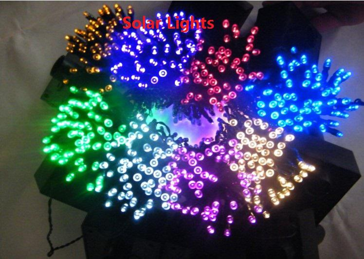 21m 200 Led White Solar String Fairy Lights Outdoor Waterproof Thanksgiving For Your Feast Day Party Free Shipping
