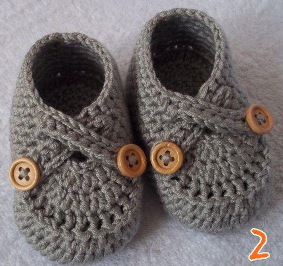 Großhandel Gehäkelte Babyschuhe Jungen Handgemachte Booties Baby ...