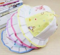 çocukların yazları toptan satış-Özel Sıcak 2013 yeni çocuk Grand için saçak Prenses havza kap yaz şapka çocuklar (100 adet / grup)
