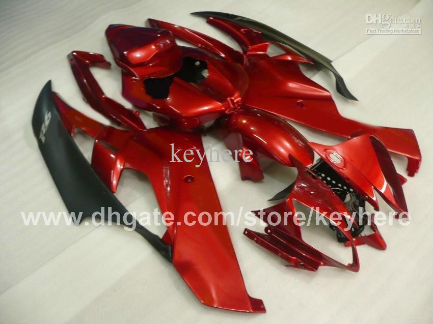 Personnaliser le kit de carénage en plastique ABS pour YZF-R6 2006 2007 YZFR6 2006 2007 YZF R6 06 07 carénages G2b vente chaude rouge noir ensemble de carrosserie moto
