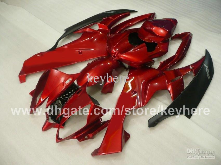 Personaliseer ABS Plastic Fairing Kit voor YZF-R6 2006 2007 YZFR6 2006 2007 YZF R6 06 07 FIERINGS G2B Hot Koop Rood Zwart Motorfiets Carrosserie Set
