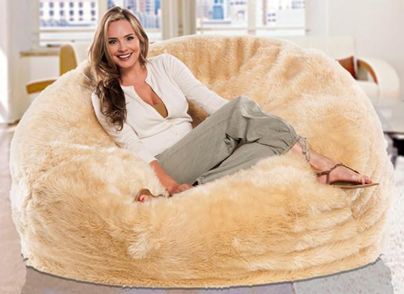 2017 Long Fur Beige Beanbag Lounge Cover, Extra Large Big Bean Bag Living  Room Cushion, Multipeople Seat Sun Lounger From Cowboy2012, $60.61 |  Dhgate.Com - 2017 Long Fur Beige Beanbag Lounge Cover, Extra Large Big Bean Bag