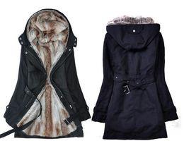 Wholesale Green Short Trench Coat - New - Fur Winter With Faux Fur Ling Women's Coat Outerwear de-unloading liner women trench coats