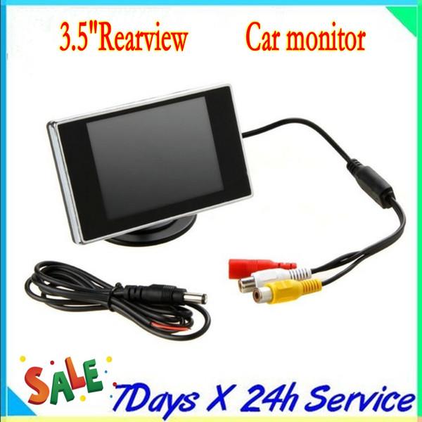 3.5 pouces HD voiture moniteur voiture couleur TFT LCD moniteur Rearview DVD w / PAL / NTSC livraison gratuite