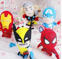 75pcs lot EMS 20cm plush stuffed toys Marvel The Avengers Mo...