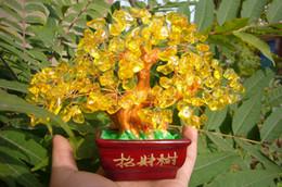 Wholesale Natural Yellow Citrine Crystals - AAA+++ Lucky tree!!!100% Natural pretty citrine yellow crystal gem tree 348g