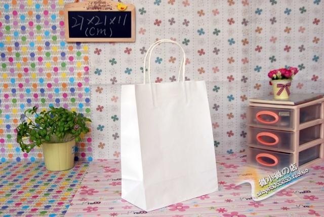 Miglior prezzo / FedEx DHL spedizione gratuita e moda lunghezza mano maniglia sacchetto di carta 27 * 21 * 11 cm