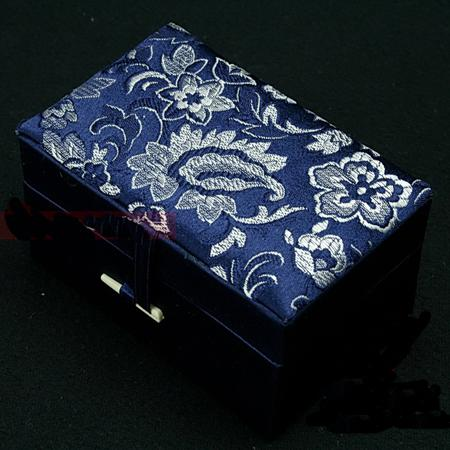 2018 Small Rectangle Cotton Filled Jewelry Gift Box Floral Cloth