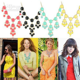 Wholesale Bubble Bib Fashion - Mini Bubble Necklace New Fashion Bib Bubble Necklces for Women Mixed Colors Minimum Order