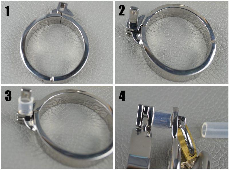 2013 cintura di castità in acciaio inox più piccola gabbia di castità, cintura di castità di castità / giocattolo del sesso degli uomini / uretrale plug-in Ultime