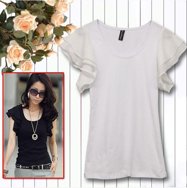 2016 Summer T-shirts Mode femmes T-shirts et Tops casual femmes tops pull pour dames à manches courtes vêtement supérieur