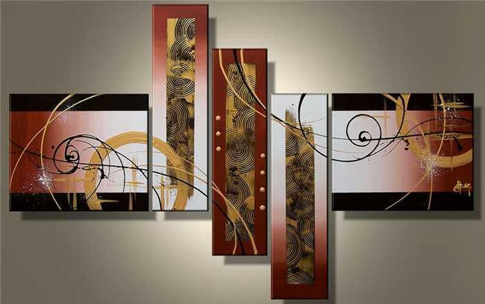 5 Piece Wall Art 2017 wall art hot sale handmade group oil painting on canvas for