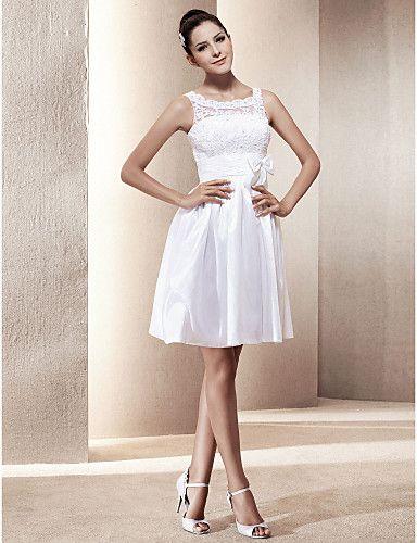 Short simple wedding dress
