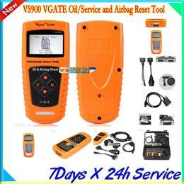 Ferramentas de serviço vw on-line-VS900 VGATE Oil / Service e Airbag Reset Tool Ferramenta de Diagnóstico Profissional Frete Grátis por DHL