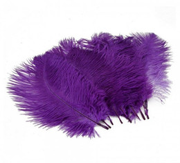 Wholesale Eiffel Centerpieces - Wholesale-FREE SHIPPING 100pcs lot 12-14inch Purple Ostrich Feathers for Eiffel Tower centerpieces Home table decoration,Wedding Decorations