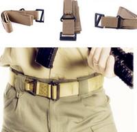 Wholesale rescue strap resale online - Kahki Green Hunting Rigger CQB Fire Rescue Militaria Survival game Tactical Belt Waist Strap