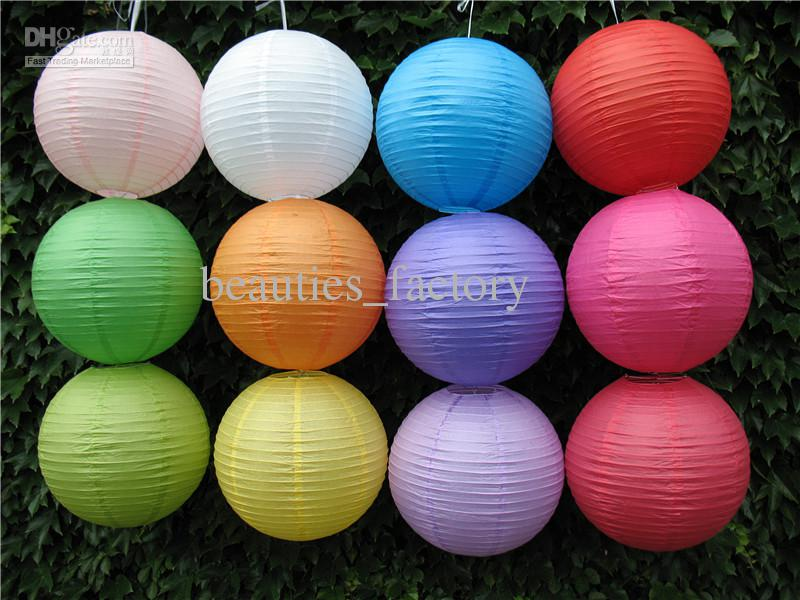 """Chinese Paper Lantern lamps WEDDING Party DECORATIONS Purple 12"""" / 8""""  You can Mix Color"""