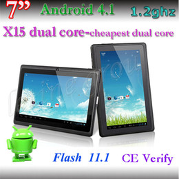 Wholesale Android Tablet Best Price - Q88 dual core bluetooth Tablet PC dual camera 512 8G android 4.1 1.2Ghz Informatic IMAPX15 800*480 Capacitive screen tablet pc best price