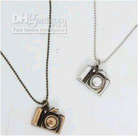 Wholesale Small Camera Necklaces - Min.order is $15 (mix order) Promotion vintage small camera long necklace sweater chain KX0074134
