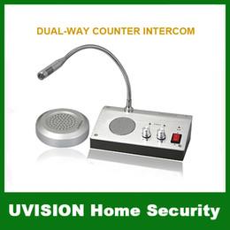2019 auriculares pola motorola Sistema de intercomunicación bidireccional de la ventana de la seguridad en el hogar 110V / 220V de la versión inglesa para el envío libre del contador