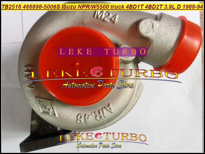 Groothandel TB2518 466898 466898-5006S Turbo Turbocharger voor Isuzu NPR W4 W5500 Dieselwagen 1988-1994 4BD1T 4BD2T 3.9L