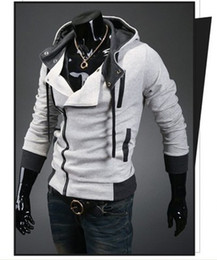 Assassin Creed Veste Coton Pas Cher-100% coton Assassin's Creed 3 Desmond Miles Hoodie Costume Manteau Veste Cosplay Sweat à capuche