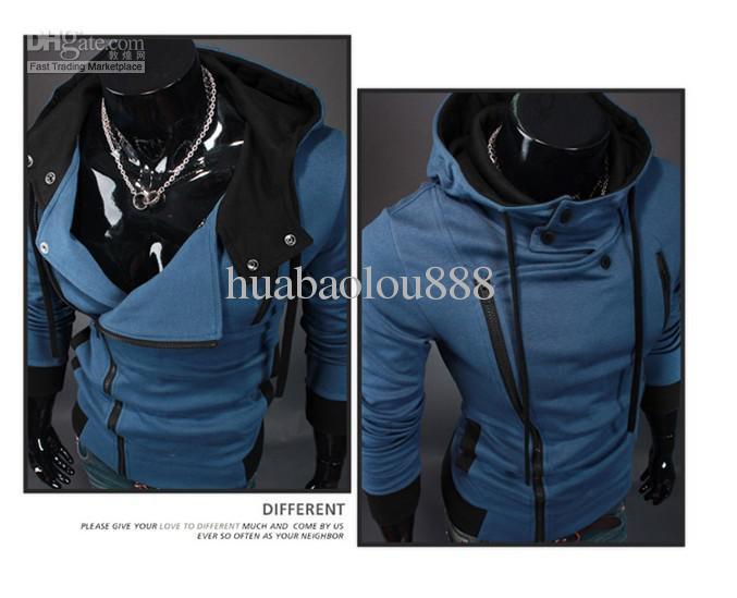 Hot Sellers cotton Assassin's Creed 3 Desmond Miles Hoodie Costume Coat Jacket Cosplay Hoodie