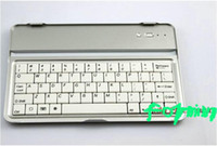 Wholesale Ipad Mini Keyboard Russian - FREE shipping! Aluminum Case wireless bluetooth keyboard for ipad mini WE CAN provide Russian letter