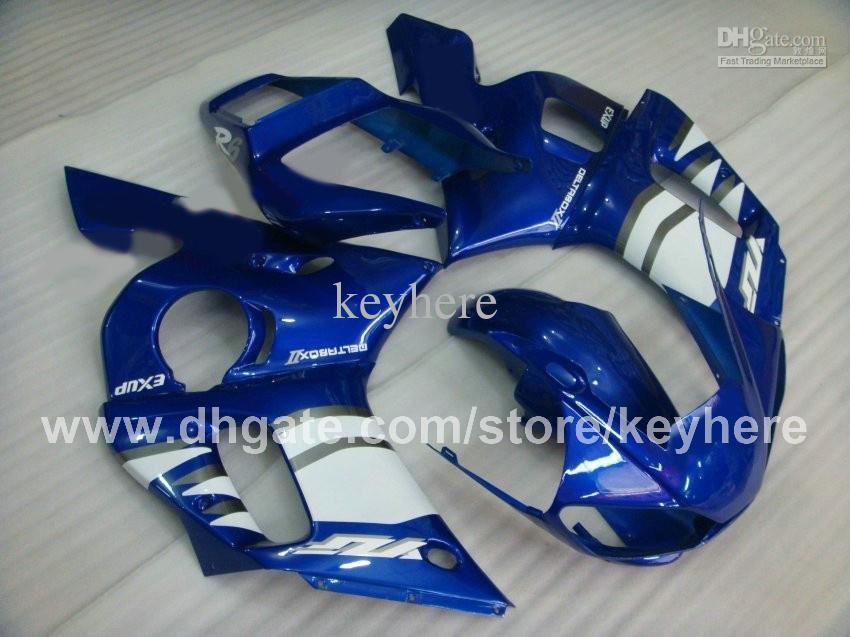 Custom Race Fairing Kit voor YZF-R6 98 99 00 01 02 YZFR6 1998 1999 2000 2001 2002 Backings G4A Blauw Wit Aftermarket Motorfiets Lichaamswerk