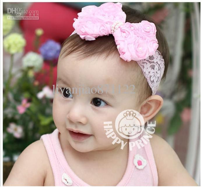 Cute Fashion Kids Girl Baby Headband Lace Chiffon Headwear Bow Hairband