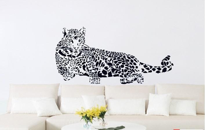 2013 Wall Stickers Cheetah Jaguar Office Background Tuba