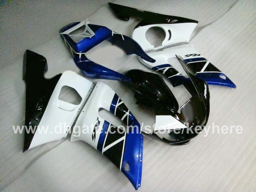 Customize ABS Plastic fairing kit for YZF R6 1998 1999 2000 2001 2002 YZFR6 98 99 00 01 02 fairings G8b white black blue motorcycle parts