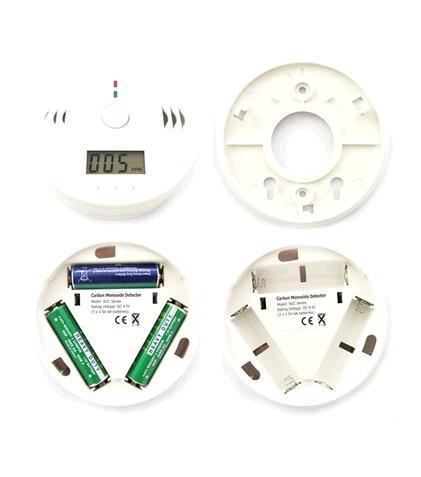 Détecteur De Monoxyde De Carbone CO Empoisonnement S5Q LCD Capteur D'alarme D'alarme Incendie Gaz Brand new blanc Livraison gratuite