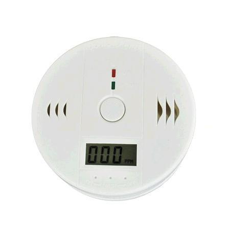 CO-koolstofmonoxide detector vergiftiging S5Q LCD-gas brand waarschuwing alarm sensor gloednieuwe witte gratis verzending