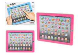 Wholesale English Ypad - Xmas ypad Y-pad Table Learning Machine English Computer for Kids Children Educational Toys Music+Led Learning Toys With Retailing Package