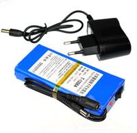 paquete de 12v al por mayor-Batería recargable Li-po DC 12V 6800mAh Paquete de baterías para CCTV Cam, iluminación LED, DVD, PDA Equipo médico Juguete GPS EE. UU. Enchufe de la UE disponible
