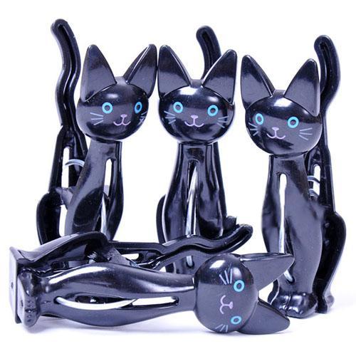 24pcs/lot Newly Arrived Goods White Black Cat's Clothes Pin Clothes Rack Coat Hanger Cl11