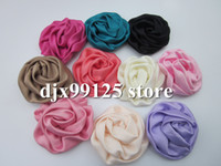 Wholesale Puff Flower Clip - Free Shipping! DIY 100% handmade beauty rose puff flowers,Hair accessories,Hair flowers WITHOUT clip 50pcs lot