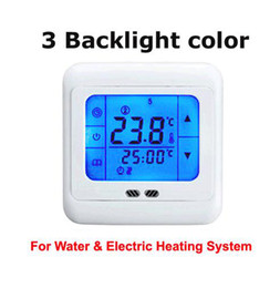 Programmable thermostats online shopping - LCD Touch Screen Programmable Digital Underfloor Heating Thermostat with Floor Air Sensor v and v for option