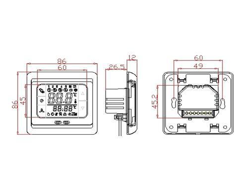 Thermostat de chauffage par le sol numérique programmable à écran tactile LCD avec capteur d'air de plancher 110v et 220v pour l'option Livraison gratuite