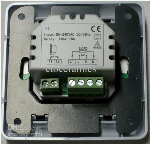 LCD-aanraakscherm programmeerbare digitale vloerverwarming thermostaat met vloer luchtsensor 110v en 220V voor optie Gratis verzending
