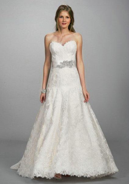 2013 lace drop waist backless wedding dress sweetheart for Lace drop waist wedding dress