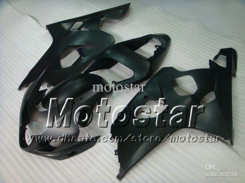 Set carene personalizzate SUZUKI GSXR 600 750 K4 2004 2005 GSXR600 GSXR750 04 05 R600 R750 parti carene moto nere piatte