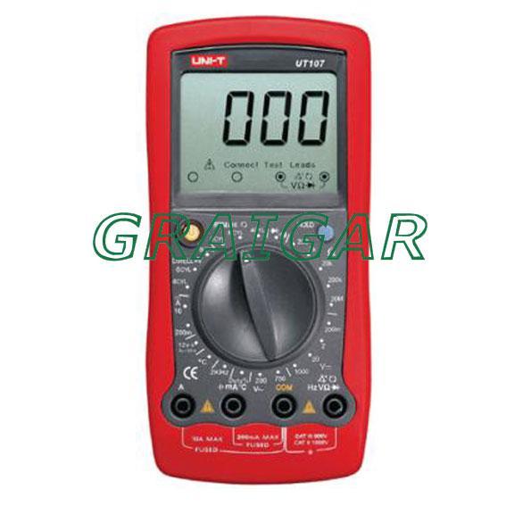 UNI-T UT107 UT-107 Automotive Tester Voltage Temp Multimeter